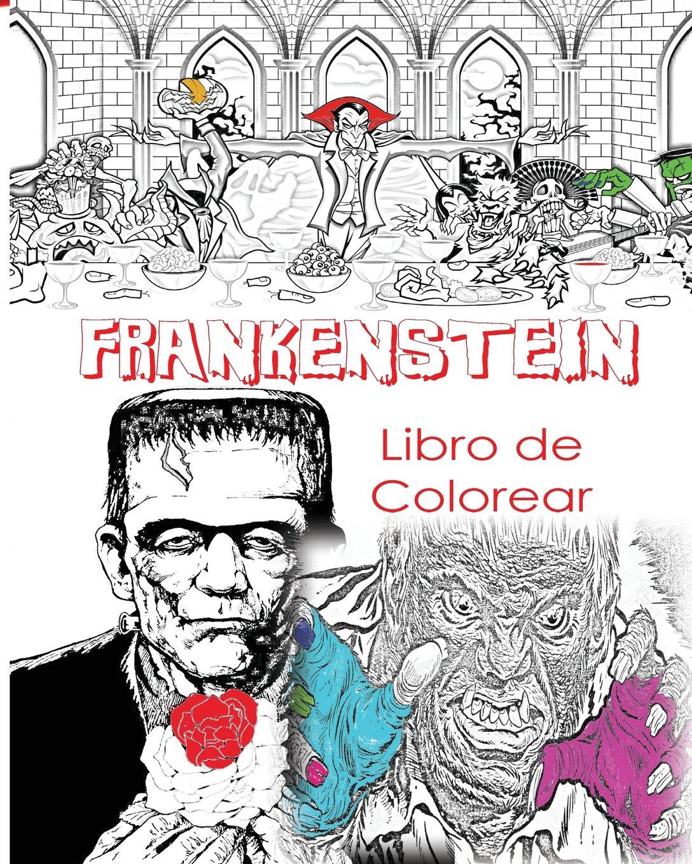 Frankenstein Libro De Colorear Para Adultos Creativos: Color Víctor ...