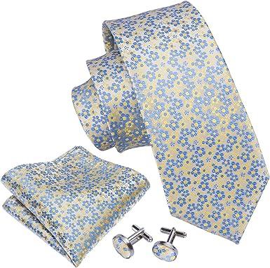 Barry.Wang - Corbata - para hombre Amarillo amarillo Talla única ...