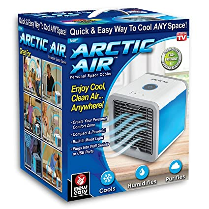 Arctic Air Mini Portable Air Cooler,Personal Desktop Air Conditioner,  Humidifier And Purifier For