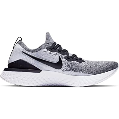 8238637506d6b Nike Epic React Flyknit 2 Men s Running Shoe White Black-Pure Platinum 8.0