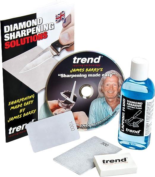 "Fine 600 Grit TREND DWS//TF6//F 6/"" Diamond Taper File"