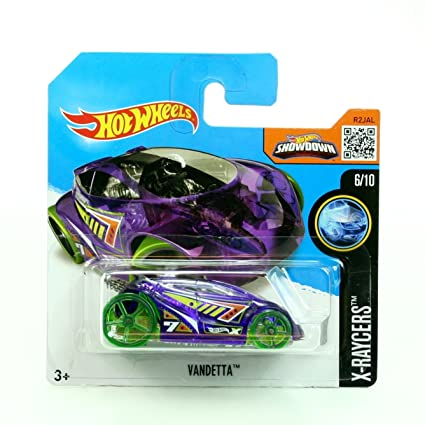 c1e28c47ac2 Amazon.com: VANDETTA (016/250) * Short Card Package * Hot Wheels 2016 HW  X-RACERS SERIES (06/10) 1:64 Scale Die-Cast Vehicle: Toys & Games