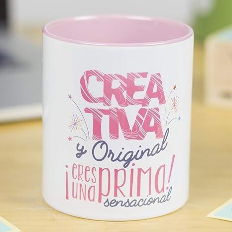 La mente es maravillosa - Taza con Frase y dibujo divertido (Creativa y original, ¡eres una prima sensacional!) Regalo PRIMA