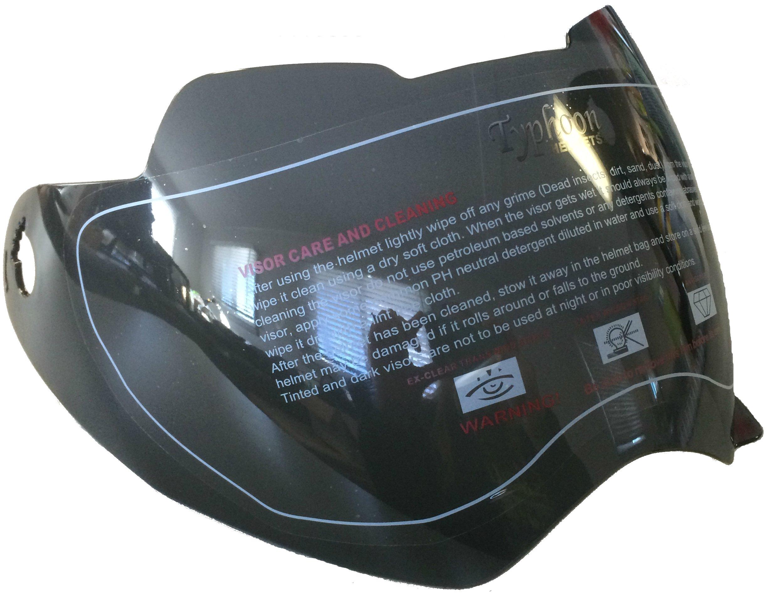 Typhoon Helmets Replacement Visor Shield for XP14 Adult Dual Sport Helmet - Smoke