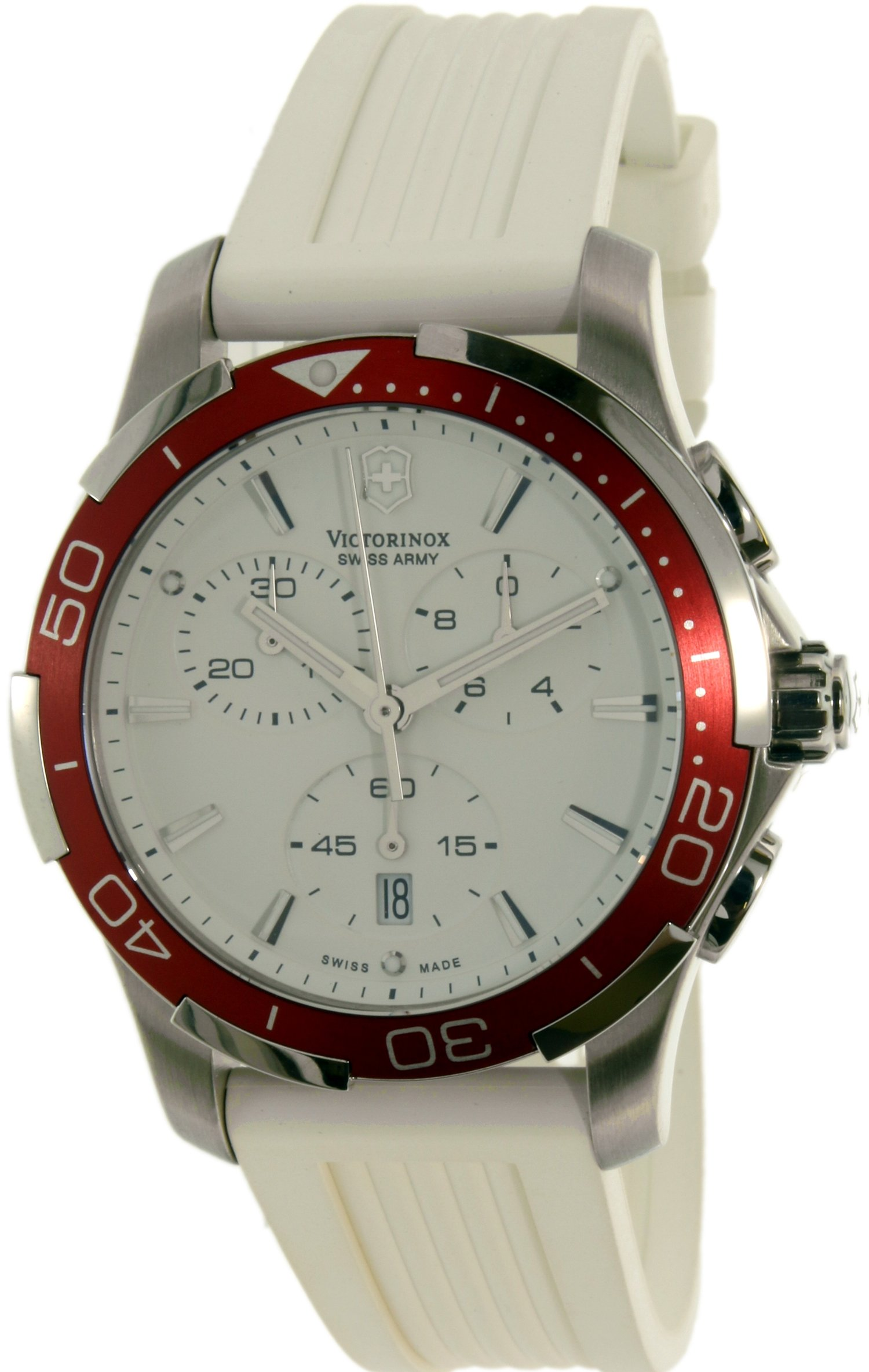 Victorinox Swiss Army Women's Alliance 241504 White Silicone Swiss Chronograph Watch