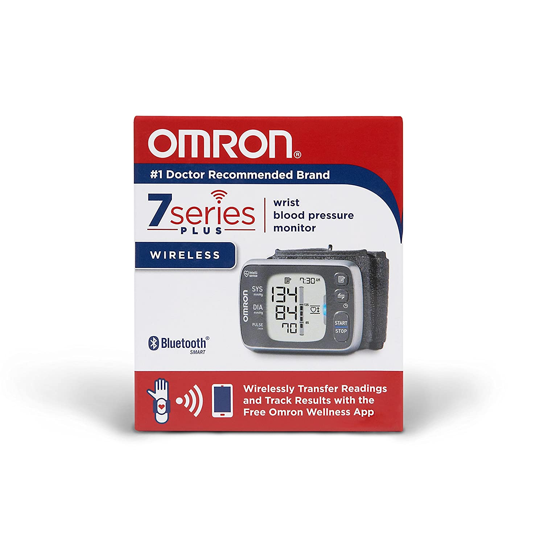 Omron 7 Series - Muñequera inalámbrica con monitor de presión arterial: Amazon.es: Oficina y papelería