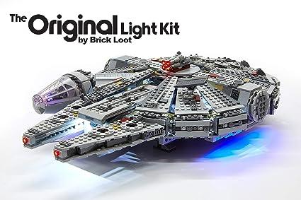 Amazon com: Brick Loot Lighting Kit for Your Millennium Falcon Lego