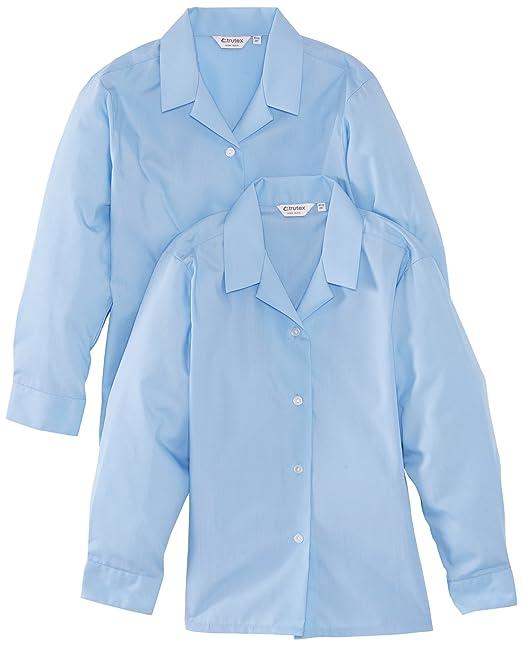2bdf35d0302c33 Trutex Limited Girl s Long Sleeve Non-Iron Plain Blouse  Amazon.co ...
