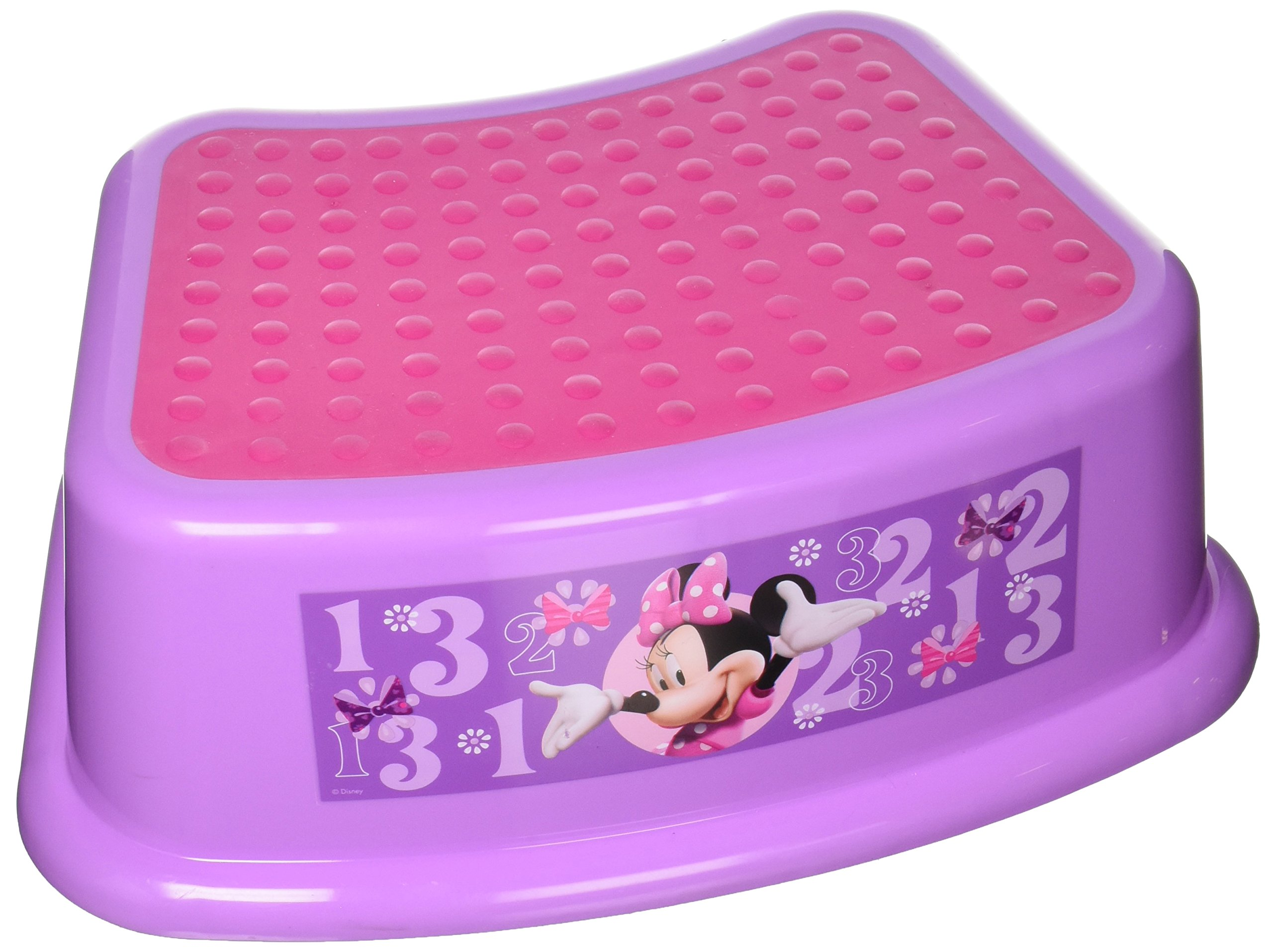 "Disney Minnie Mouse ""Bowtique"" Step Stool, Pink"