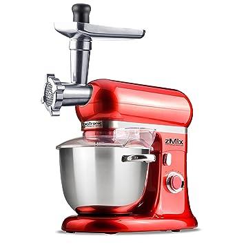 Amazon De 1800 Watt Kuchenmaschine Mit 6 5 Liter Edelstahl