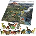 Chicken Toys Kids 18-Piece Dinosaur Toy Set with Play Mat