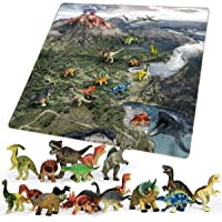 Chicken Toys Kids 18-Piece Dinosaur Toy Set with Play Mat