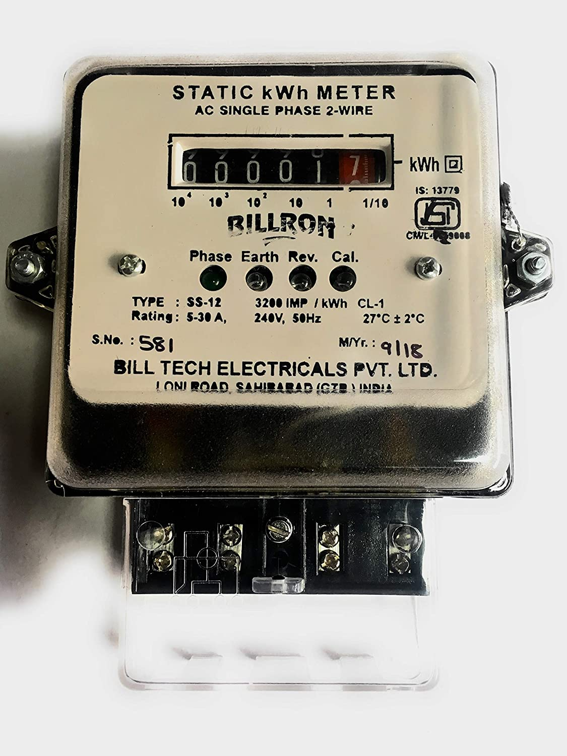 Energy Meter Single Phase Electricity Consumption Kwh Wiring Problems Why You Need To Own A Electrical Online 5 30 Amps Home Kitchen