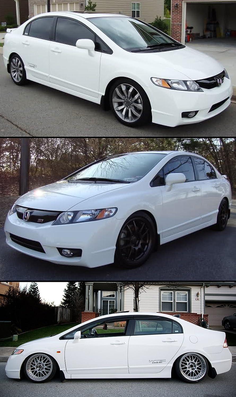 Para 2006 - 2011 octava generación Honda Civic FD 4 puertas Sedan Mud Flaps Splash Guardia delantero + trasero): Amazon.es: Coche y moto