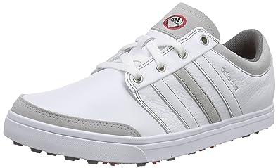 adidas Adicross Gripmore, Men's Golf Shoes, White (White/White/Light Scarlet