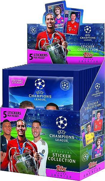 Brasil versión 2019//2020 Topps UEFA Champions League Soccer Pegatina x4 Paquete