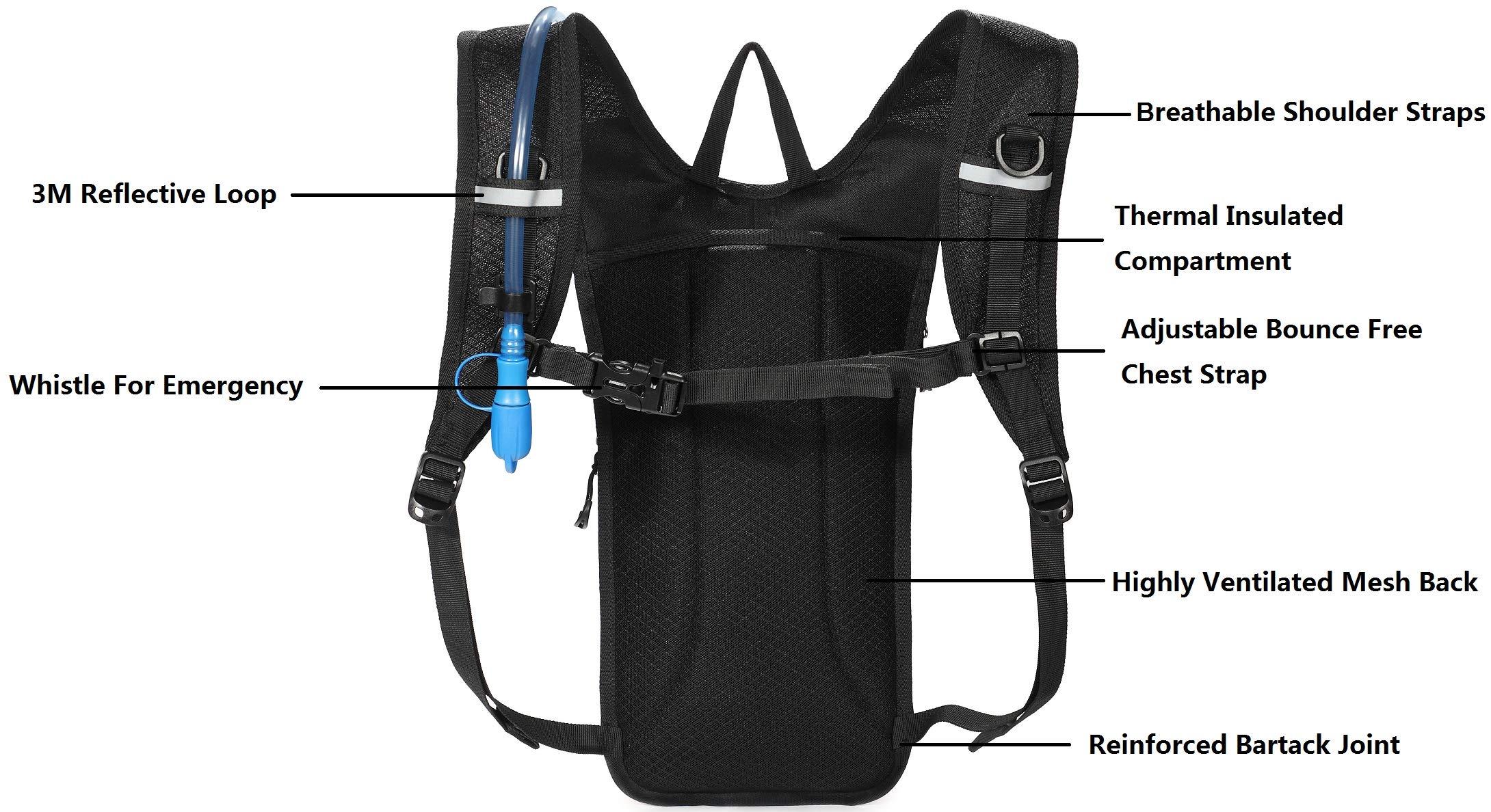 Terra Peak 2 litre Hydration Bladder Pack Water Hydro Bag Reservoir Festival