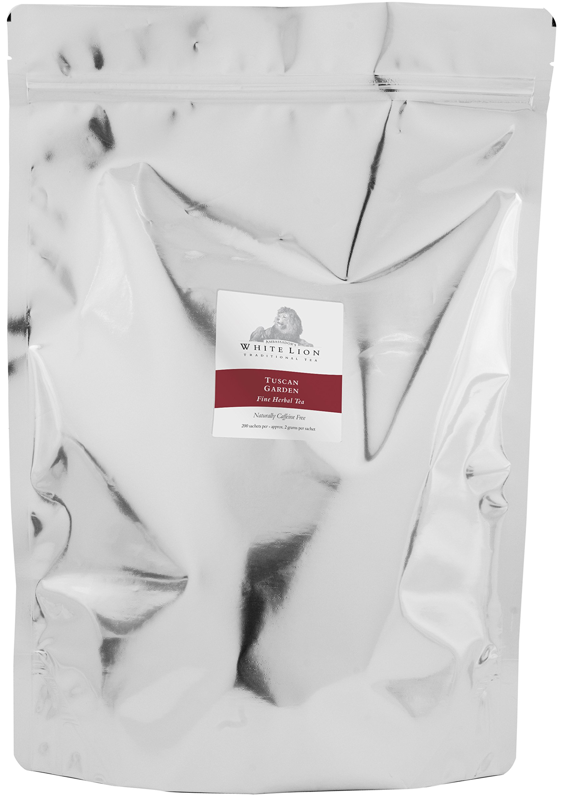 White Lion Limited - Tuscan Garden Fine Herbal Tea Bulk Sachets 2-200 Count Case by White Lion Limited (Image #1)