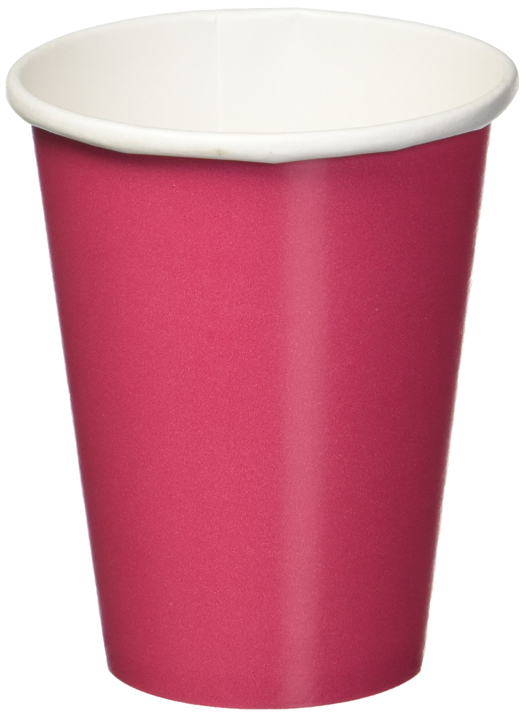 Amscan Disposable Hot and Cold Beverage Paper Cups Tableware Saver Pack Party Supplies (120 Piece), Magenta, 9 Ounce by Amscan