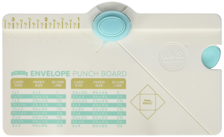 We R Memory Keepers 660541 Mini Envelope Punch Board American Crafts