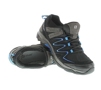 Salomon GLENWOOD GTX Zapatillas de Senderismo Gris Azul para Hombre GORE TEX