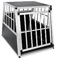 EUGAD Hundebox Transportbox Hundetransportbox Aluminium 1 Türig Reisebox Gitterbox Box Farbwahl EHT467