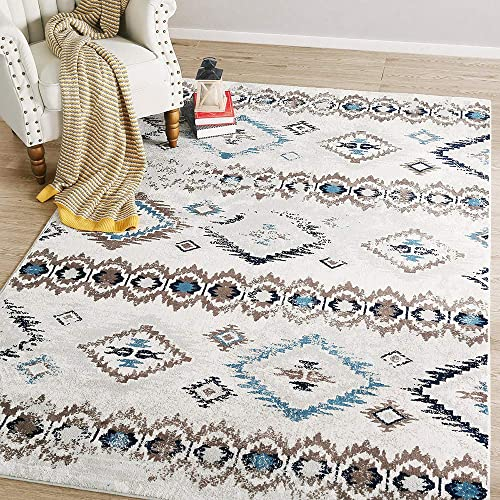 LNC 8 x 10 Mat Indoor Vintage Abstract Coastal Style Area rug, 8 x10 , A03446