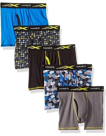8006de429d Hanes Boys' Active Cool X-Temp Boxer Brief 5-Pack