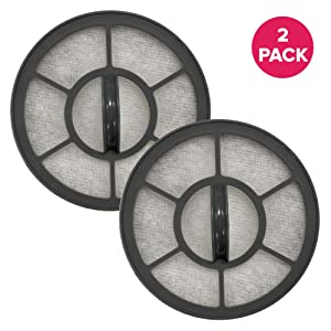 Think Crucial Exhaust Motor Filter Replacement Filter Part# EF-7 091541 Compatible with Eureka Vacuum Models AS3001A, AS3008A, AS3011A AS3030A, Fits Brushroll, Bulk (2 Pack)