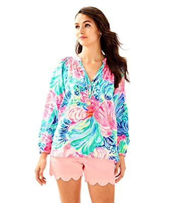 33a84e82d8f71 Image Unavailable. Image not available for. Color  Lilly Pulitzer Silk Elsa  Top ...