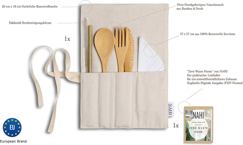 Set Cubiertos de Bambú | Viaje y Camping | Pajita, Tenedor ...