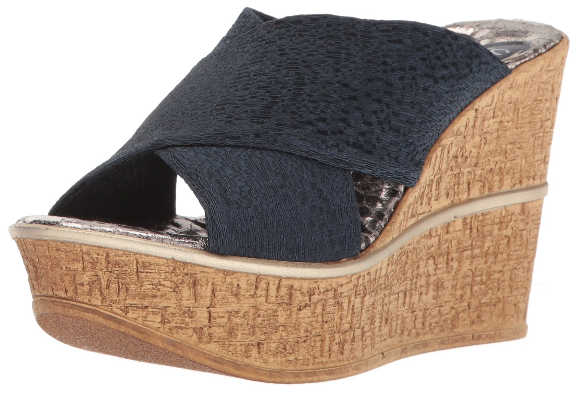 Love & Liberty Women's Ruth-Ll Wedge Sandal, Navy, 8 M US