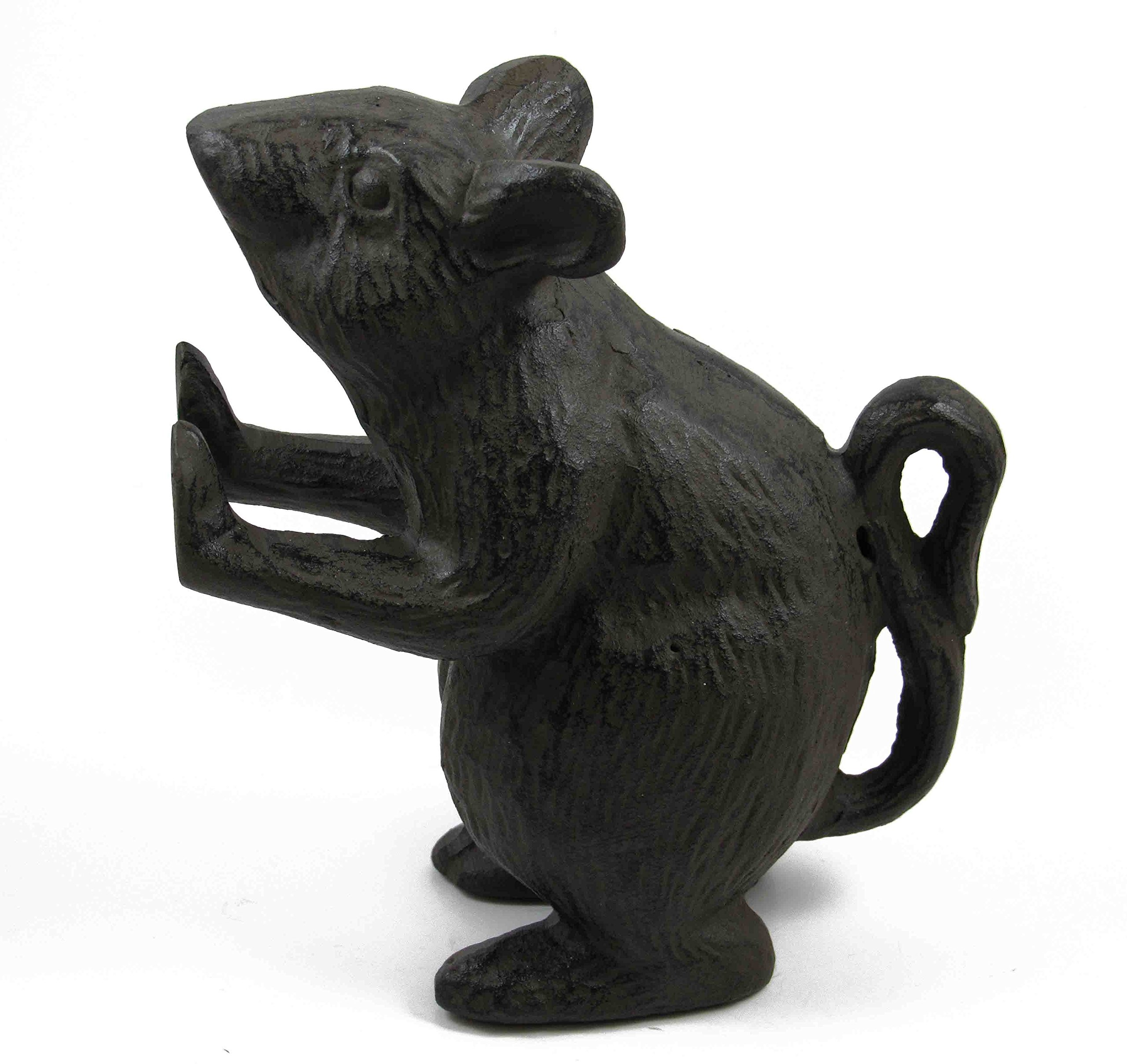 Distressed Cast Iron Mouse Rodent Door Stopper Farmhouse, Shabby Chic, Rustic Quality Decorative, Vintage Door Stop - Stop Your Interior Or Exterior Doors with Great Style by Ashes to Beauty (Brown)