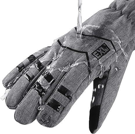 EXski Gants Homme Tactile Imperm/éable Chauds Coupe-Vent Hiver Cyclisme Camping Ext/érieur Thermiques Thinsulate
