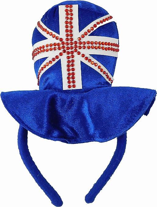 Diadema con sombrero, con diseño de la bandera de Reino Unido ...