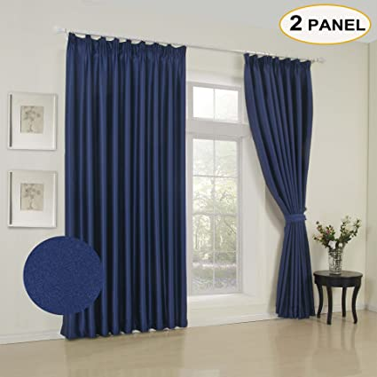 Amazon Com Artdix Solid Blackout Curtains Pleated Curtains Window