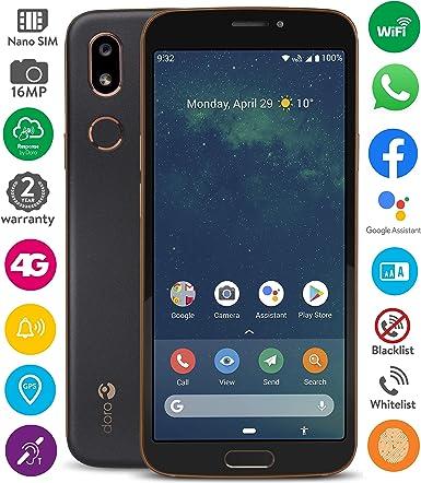 Doro 8080 Smartphone 14 5 Cm 5 7 Zoll 18 9 Ips Touchscreen 16 Mb Kamera Bluetooth 5 0 Wi Fi Usb C Schwarz Elektronik