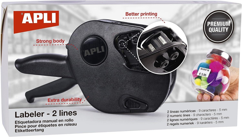 Apli Paper 102365 Máquina Etiquetadora de precios 2 líneas Premium