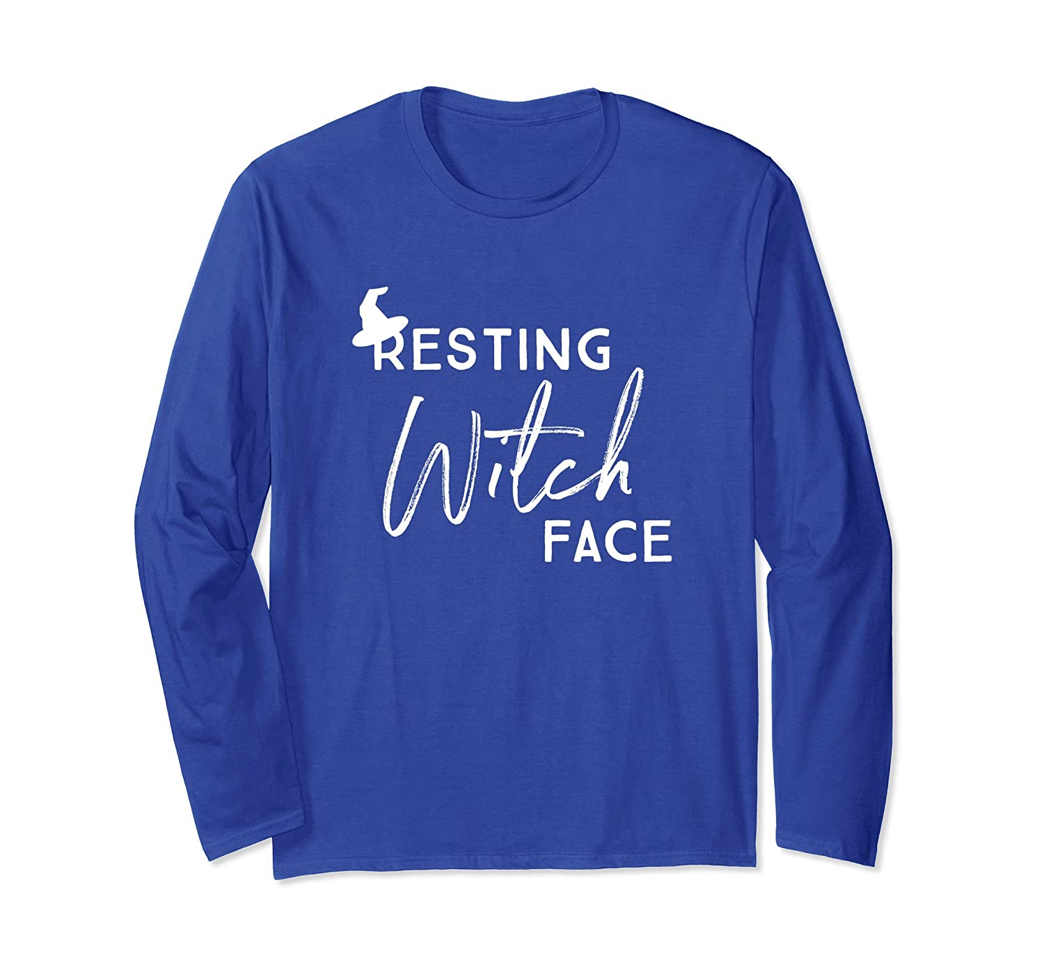 Resting Witch Face Funny Halloween Long Sleeve T-shirt-mt