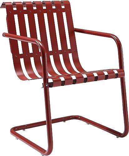 Crosley Furniture Gracie Retro Metal Outdoor Spring Chair
