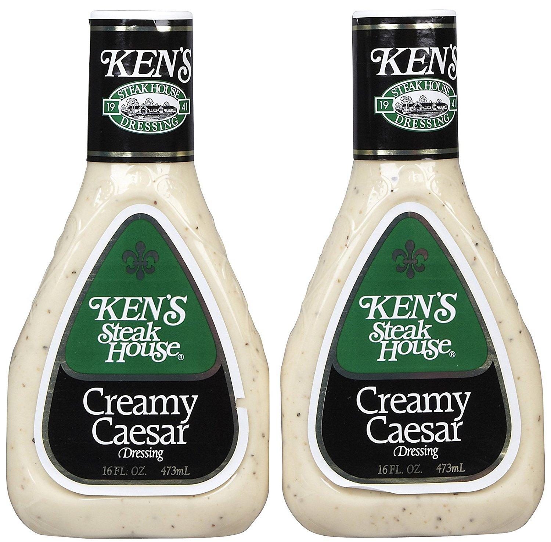 Ken's Steak House Creamy Caesar Dressing 16 0z. 2 Pack