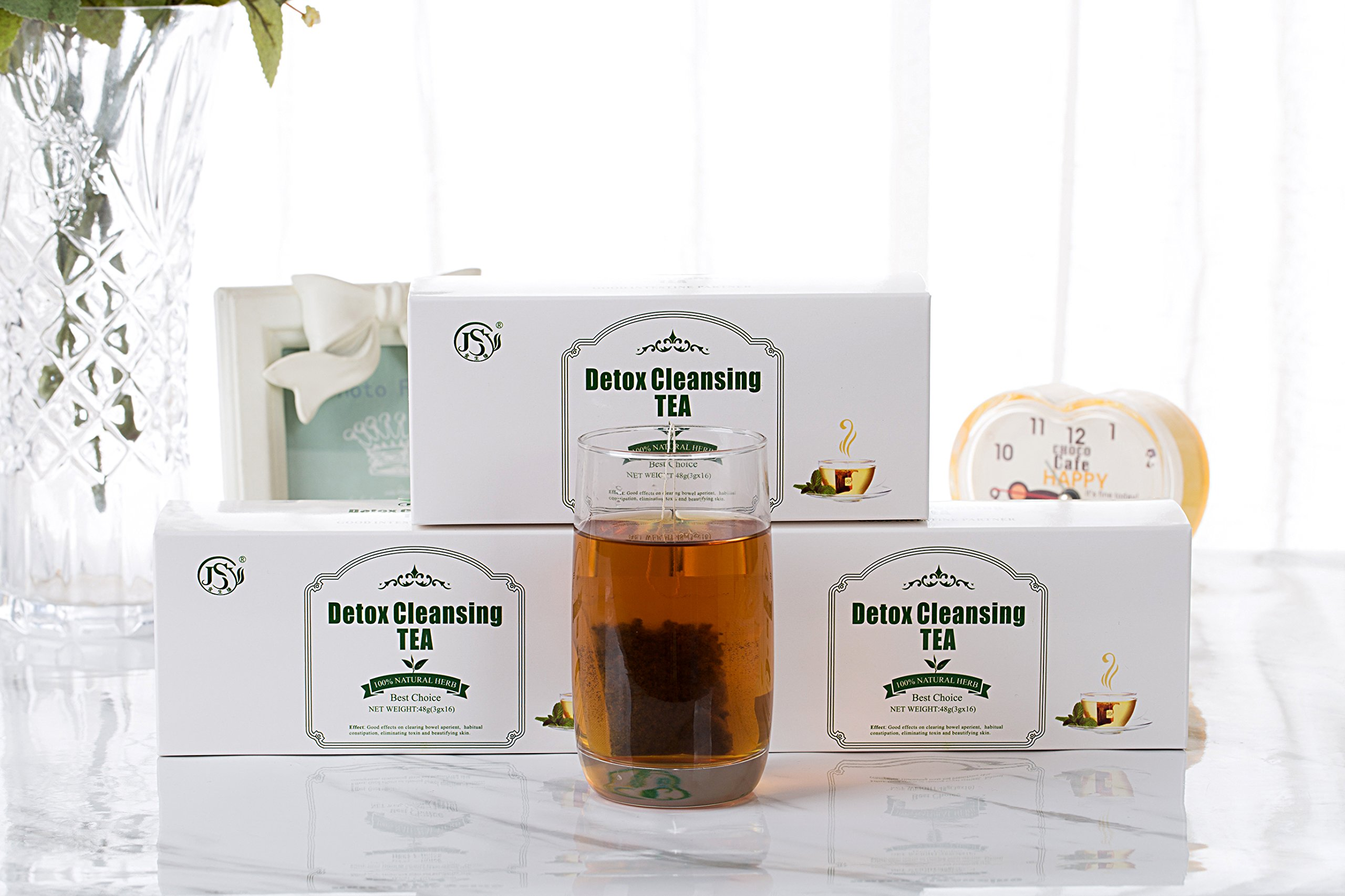 SSZY Tea JSY Detox Herbal Weight Loss Tea Premium Chinese Slimming Green Tea for Reduce Fat Lipo Targets Belly Fat, All Natural Blend of Oolong Tea Green Tea and Senna (Detox Cleansing Tea)