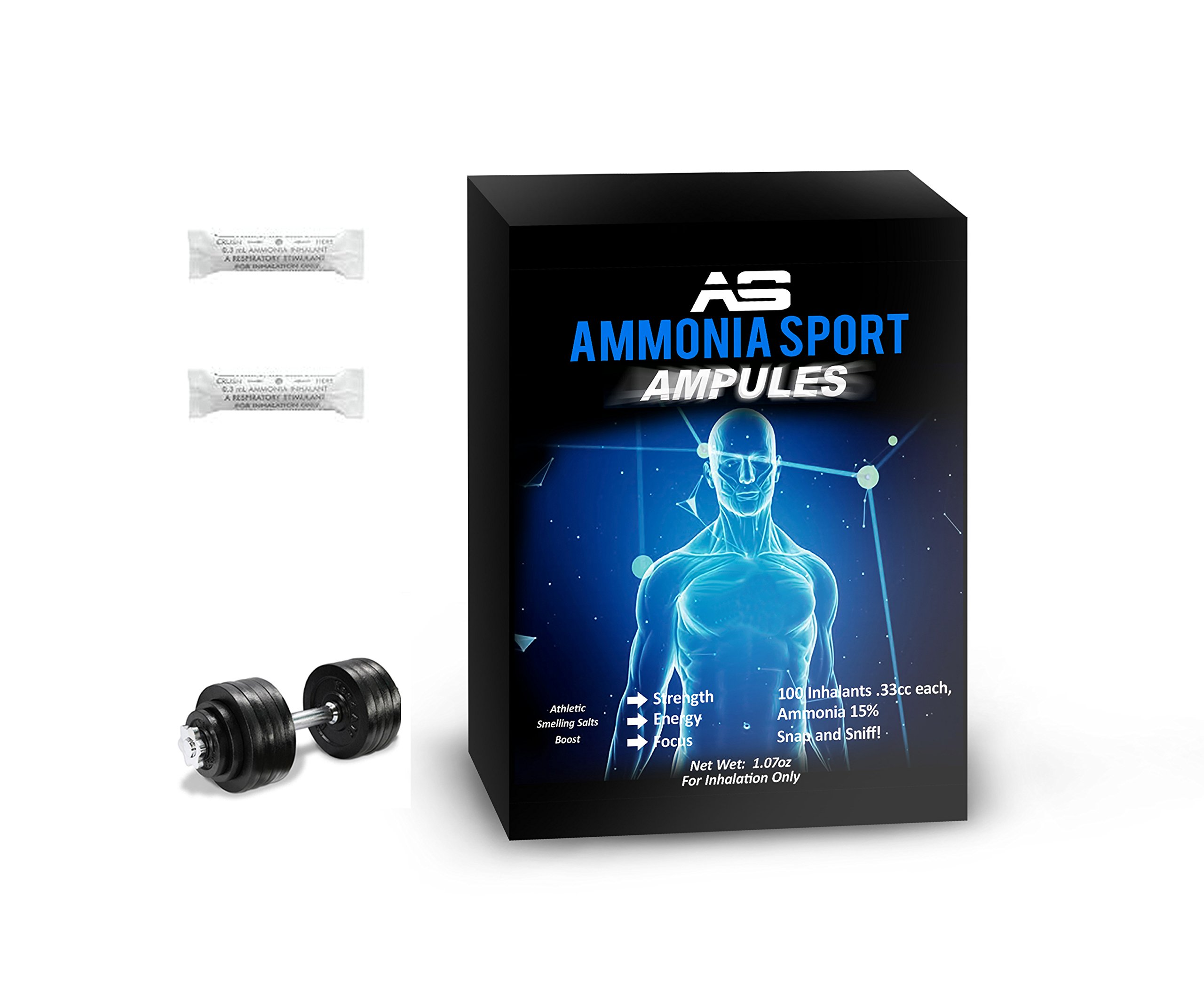 AmmoniaSport Athletic Smelling Salts - Ampules (100) - Ammonia Inhalant [Smelling Salt / Ammonia Inhalants]