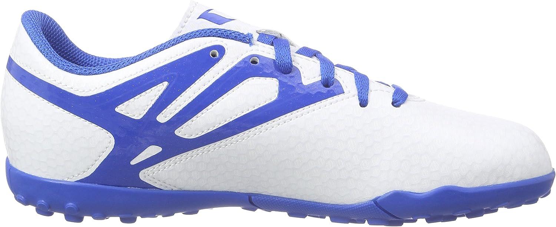 adidas Messi15.4 TF, Chaussures de Football Compétition garçon Blanc Bleu Noir
