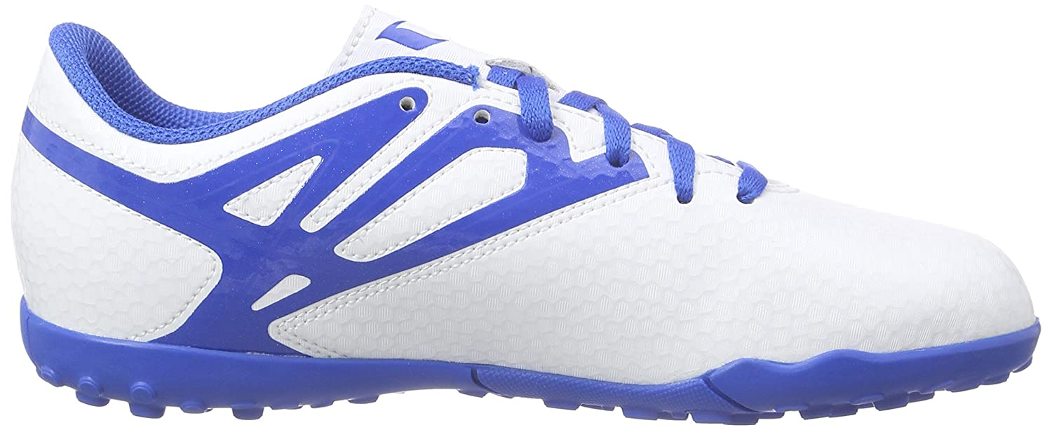 Amazon.com | adidas Messi 15.4 TF Junior Kids Astro Turf Soccer Soccer Trainer Shoe White | Soccer