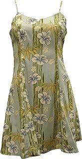 product image for Paradise Found Womens Hibiscus Bamboo Panel Princess Seam Mini Sundress