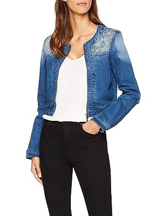 e487cd4eb68b oodji Ultra Femme Veste en Jean avec Décor Métallique  Amazon.fr  Vêtements  et accessoires