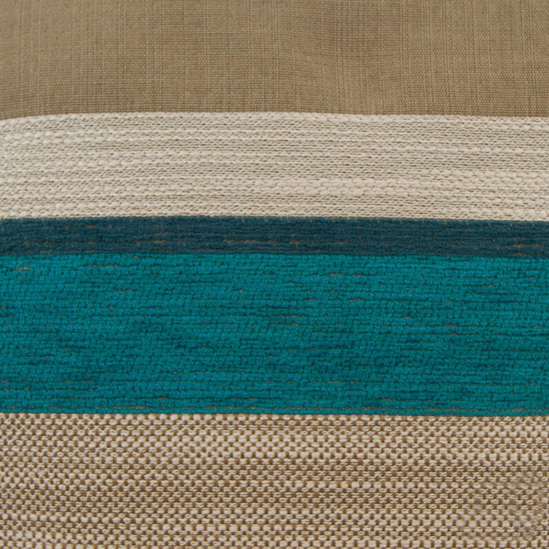 Just Contempo Chenille Striped Cushion Cover Blue 17x17 inches