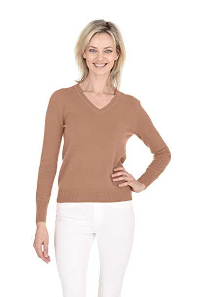 Pullover aus Cashmere mit V Neck Schwarz