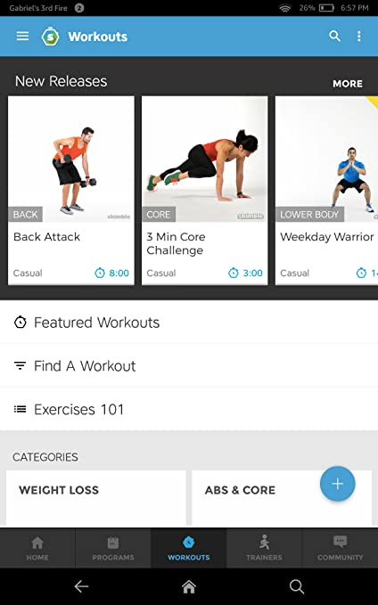 3396c79297e Amazon.com  Workout Trainer  personal fitness coach   exercise community   Appstore for Android